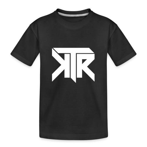KTR Logo White - Kid's Premium Organic T-Shirt