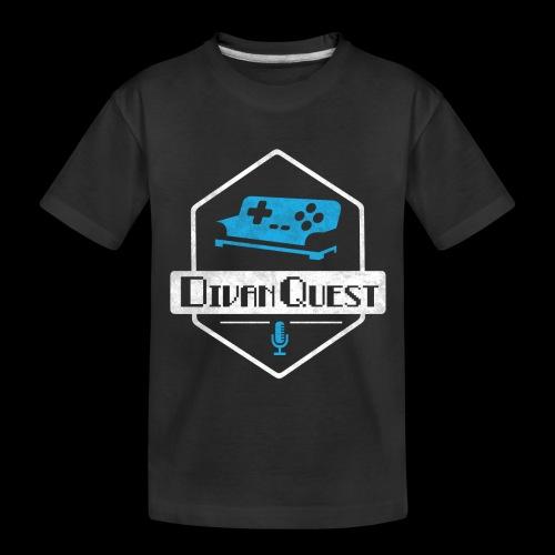 DivanQuest Logo (Badge) - Kid's Premium Organic T-Shirt