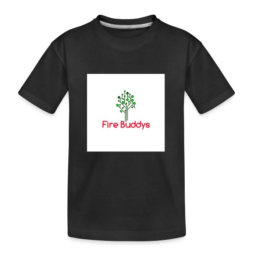 Fire Buddys Website Logo White Tee-shirt eco - Kid's Premium Organic T-Shirt