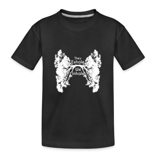 Inhale Exhale White - Kid's Premium Organic T-Shirt