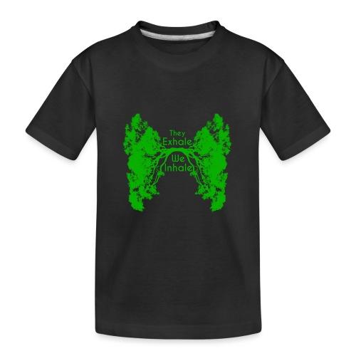 InhaleExhaleGreen - Kid's Premium Organic T-Shirt