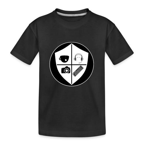 Punk Who Drinks Tea Crest (Inverted) - Kid's Premium Organic T-Shirt