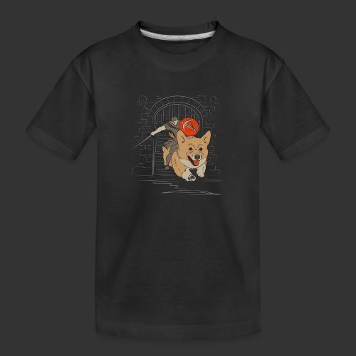 A Corgi Knight charges into battle - Kid's Premium Organic T-Shirt