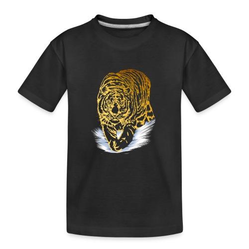 Golden Snow Tiger - Kid's Premium Organic T-Shirt