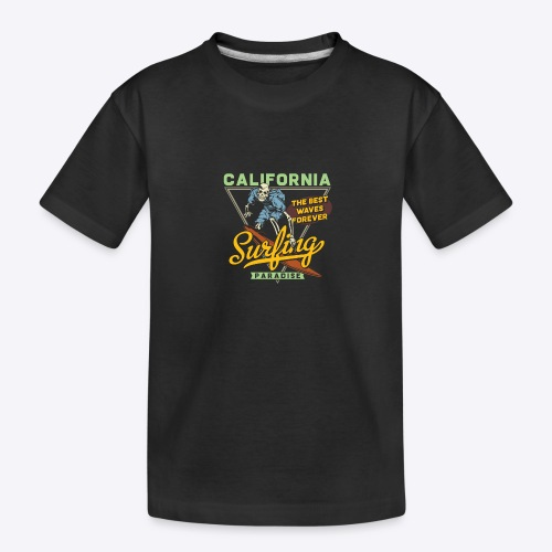 California Surfing Paradise - Kid's Premium Organic T-Shirt