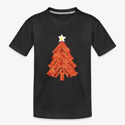 Funny Bacon and Egg Christmas Tree - Kid's Premium Organic T-Shirt
