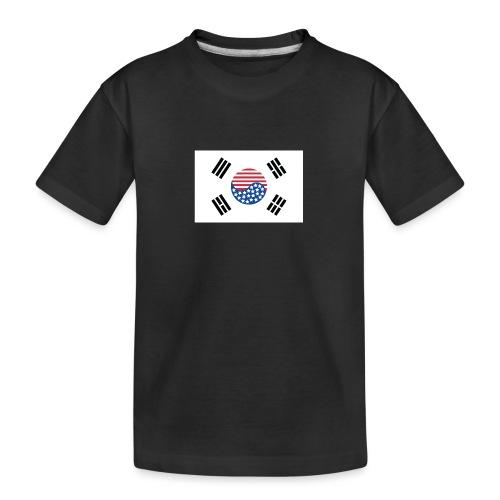 Korean American Flag - Kid's Premium Organic T-Shirt