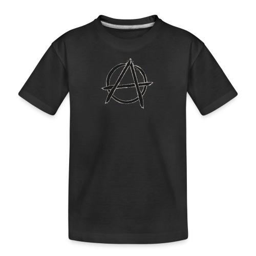 Anarchy in black silver - Kid's Premium Organic T-Shirt