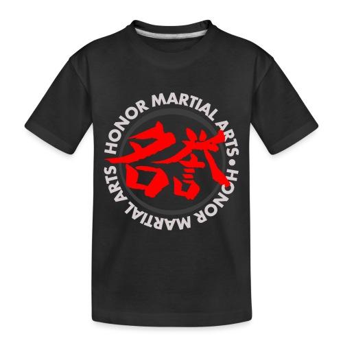 Honor Martial Arts Kanji Design Light Shirts - Kid's Premium Organic T-Shirt