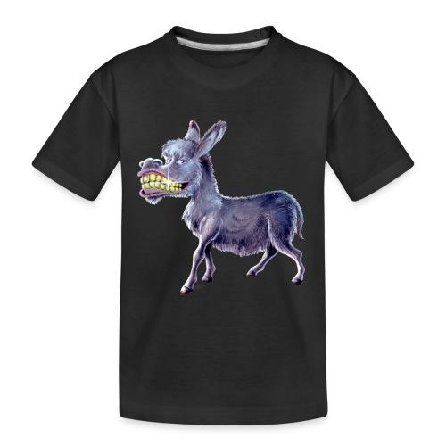 Funny Keep Smiling Donkey - Kid's Premium Organic T-Shirt