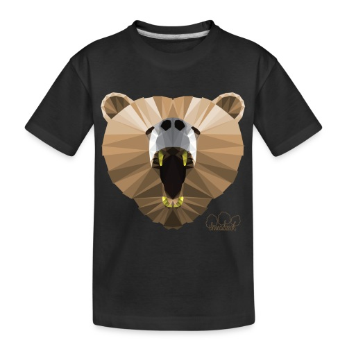 Hungry Bear Women's V-Neck T-Shirt - Kid's Premium Organic T-Shirt