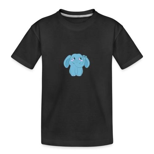 Baby Elephant Happy and Smiling - Kid's Premium Organic T-Shirt