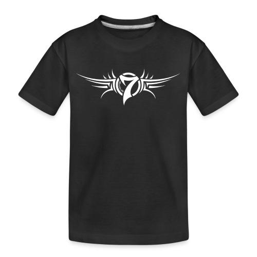 MayheM-7 Tattoo Logo White - Kid's Premium Organic T-Shirt