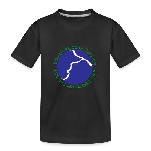 LAKE DIEFENBAKER OUTDOORS - Kid's Premium Organic T-Shirt