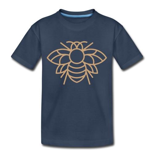 (bee_gold) - Kid's Premium Organic T-Shirt