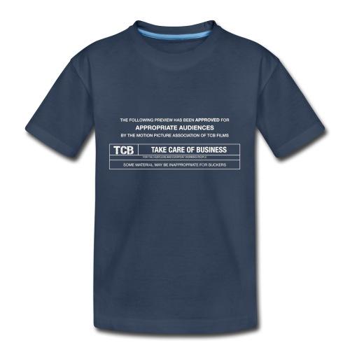 TCB Films Disclamer - Kid's Premium Organic T-Shirt