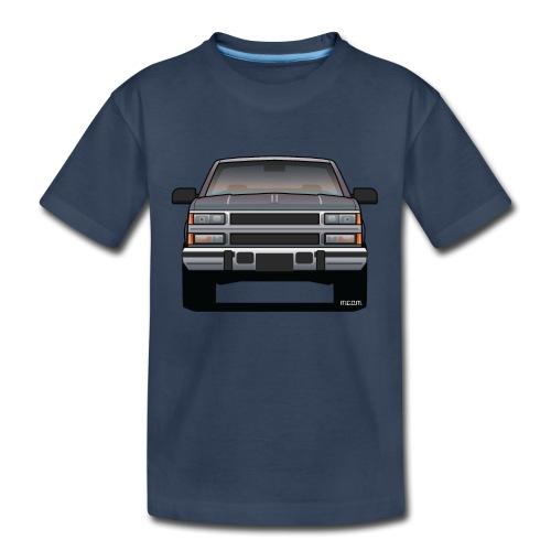 Design Icon: American Bowtie Silver Urban Truck - Kid's Premium Organic T-Shirt