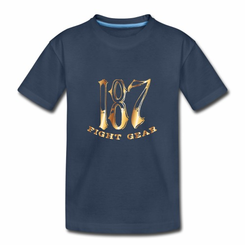 187 Fight Gear Gold Logo Street Wear - Kid's Premium Organic T-Shirt