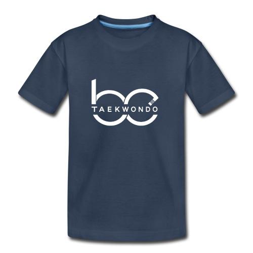 Logo emblem WHITE no bg - Kid's Premium Organic T-Shirt