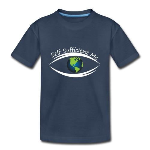 Self Sufficient Me Logo Large - Kid's Premium Organic T-Shirt