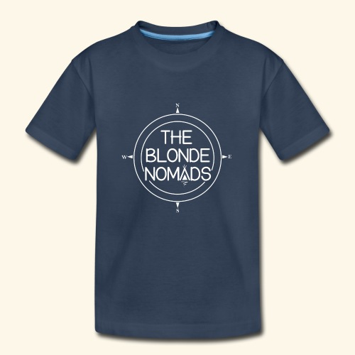 The Blonde Nomads logo WHITE - Kid's Premium Organic T-Shirt