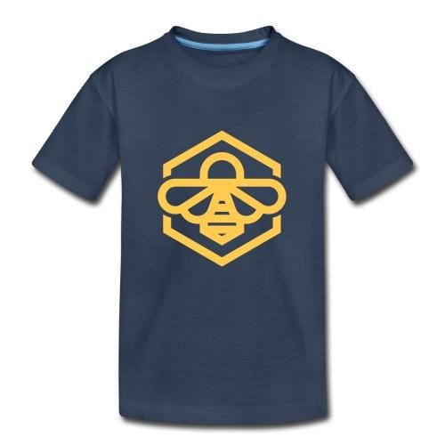 bee symbol orange - Kid's Premium Organic T-Shirt