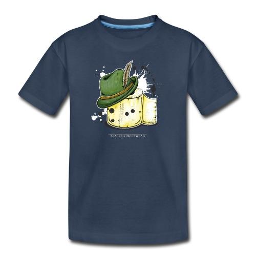 The hunter & the toilet paper - Kid's Premium Organic T-Shirt