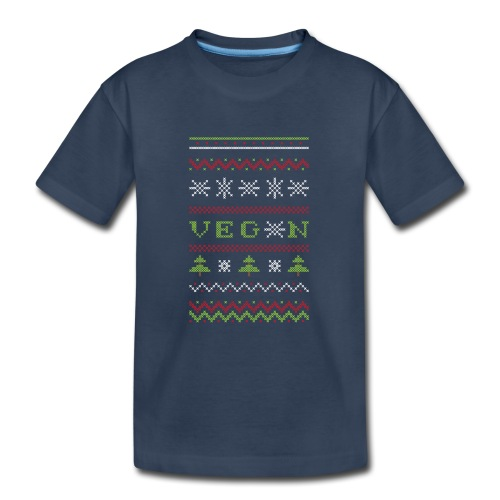 Veg*n Ugly Sweater Women's Wideneck Sweatshirt - Kid's Premium Organic T-Shirt