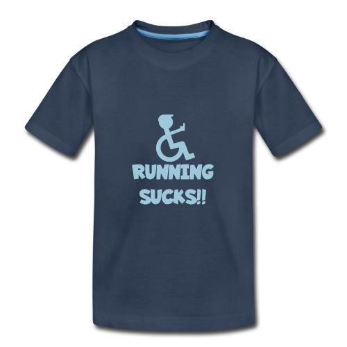 Running sucks for wheelchair users - Kid's Premium Organic T-Shirt