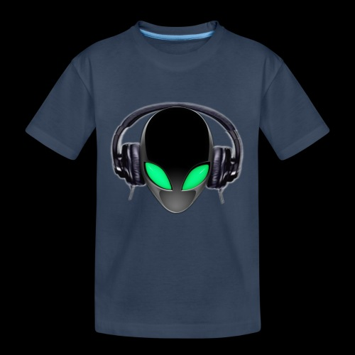 Alien Music Lover DJ (Simplified Fit All Design) - Kid's Premium Organic T-Shirt