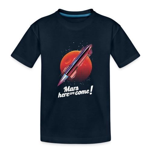 Mars Here We Come - Dark - Kid's Premium Organic T-Shirt