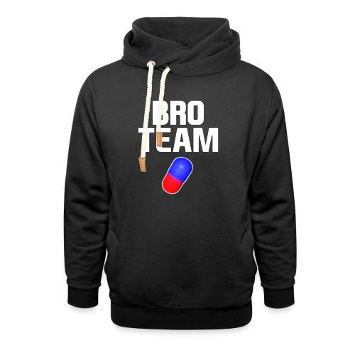 Bro Team White Words Logo Women's T-Shirts - Unisex Shawl Collar Hoodie