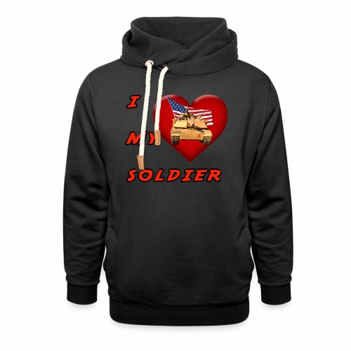 I Heart my Soldier - Shawl Collar Hoodie