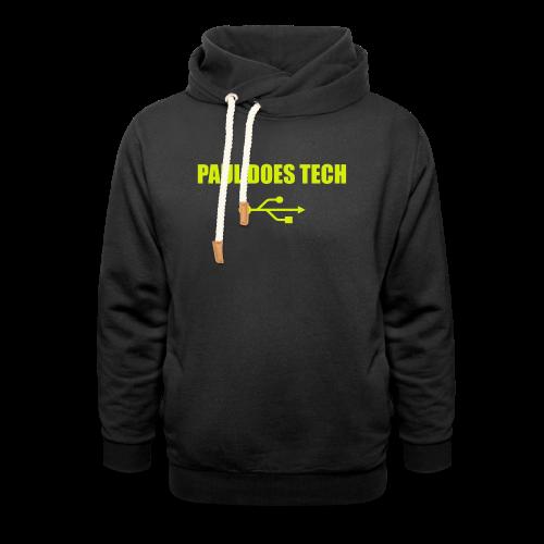 Paul Does Tech Yellow Logo With USB (MERCH) - Shawl Collar Hoodie
