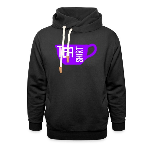 Tea Shirt Purple Power of Tea - Shawl Collar Hoodie