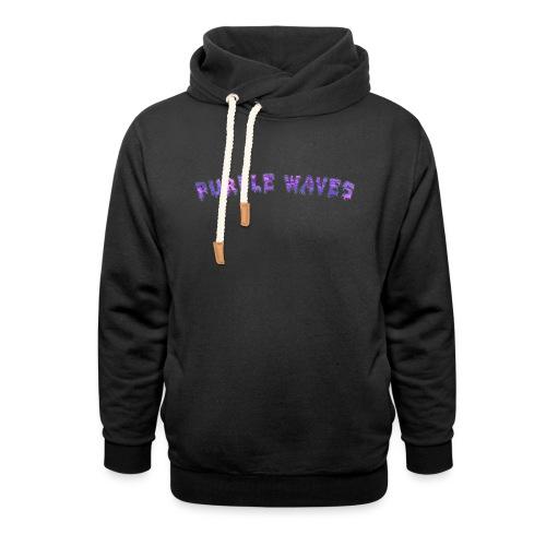 Purple Waves - Shawl Collar Hoodie