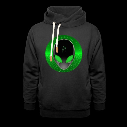 Psychedelic Alien Dolphin Green Cetacean Inspired - Unisex Shawl Collar Hoodie