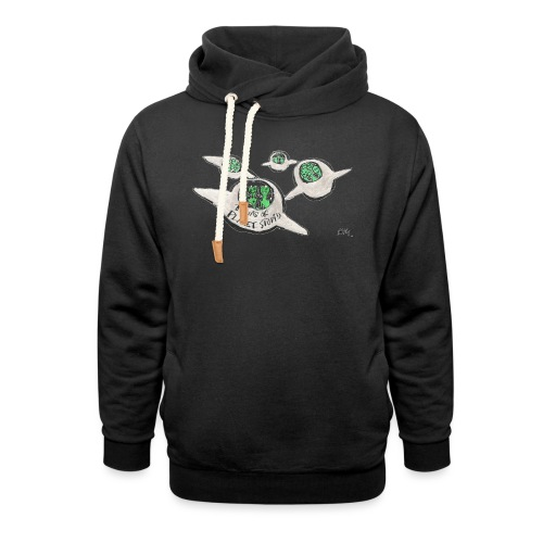 Tours of Planet Stupid - Unisex Shawl Collar Hoodie