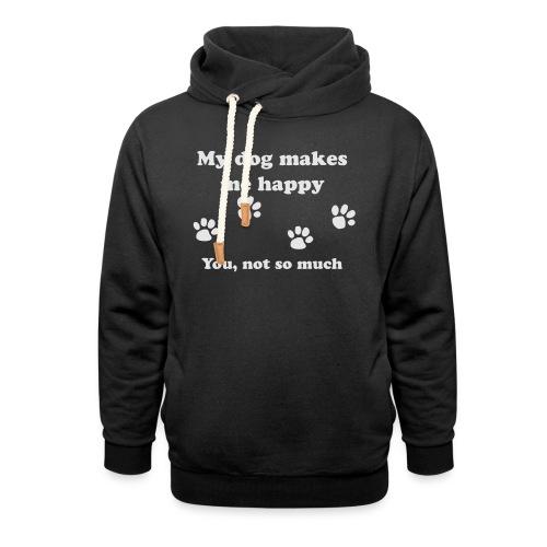 dog_happy - Unisex Shawl Collar Hoodie