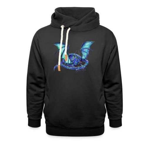 lizard dragon - Shawl Collar Hoodie