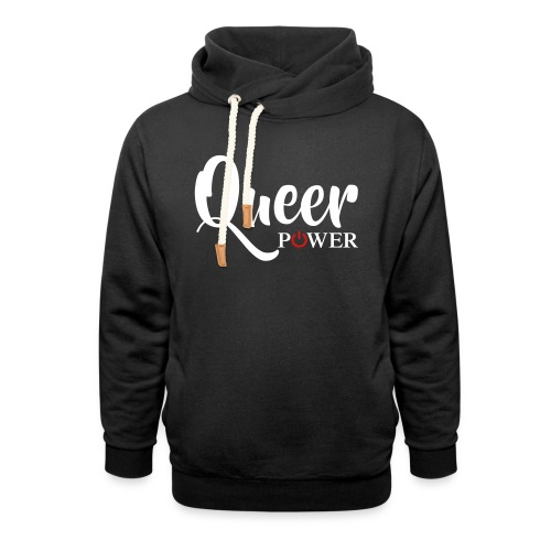 Queer Power T-Shirt 04 - Unisex Shawl Collar Hoodie