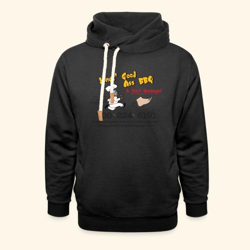 Jones Good Ass BBQ and Foot Massage logo - Shawl Collar Hoodie