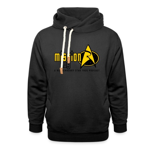Logo Wide 2 Color Black Text - Shawl Collar Hoodie