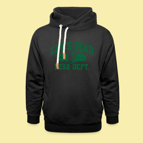 Athletic Green - Inverted for Dark Shirts - Shawl Collar Hoodie
