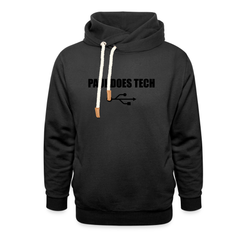 Paul Does Tech Logo Black with USB - Shawl Collar Hoodie