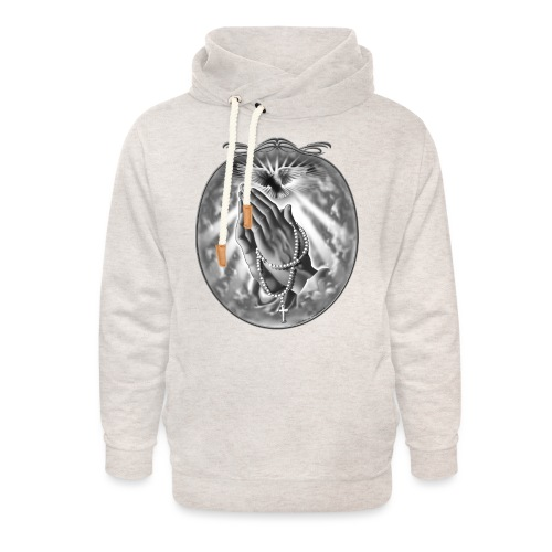 Praying Hands by RollinLow - Unisex Shawl Collar Hoodie