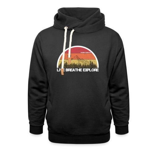Live Breathe Explore Mountain - Unisex Shawl Collar Hoodie