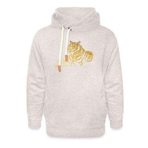 Gold Tiger - Unisex Shawl Collar Hoodie