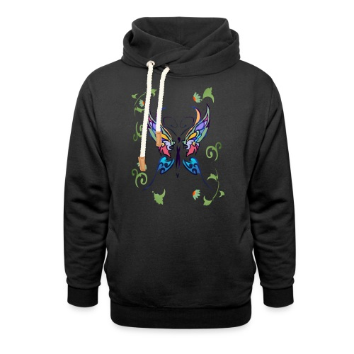 Bright Butterfly - Shawl Collar Hoodie