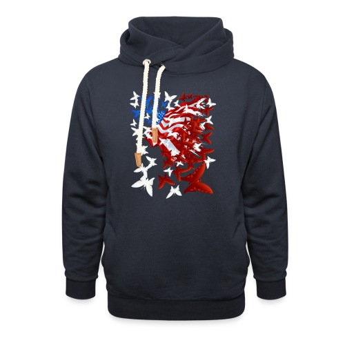 The Butterfly Flag - Unisex Shawl Collar Hoodie
